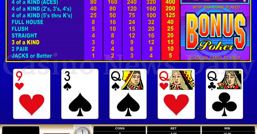 Bonus Poker Online Bonus - Rixey Gambling
